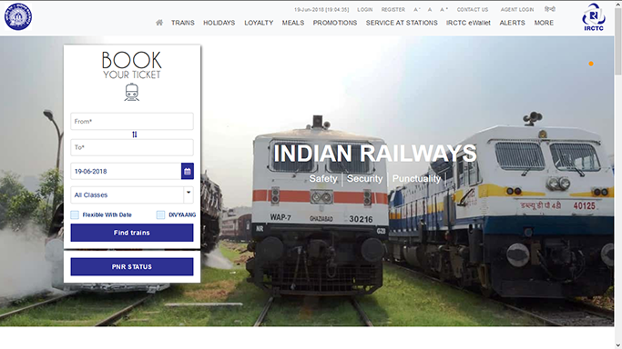 Thoughts on the new IRCTC Website